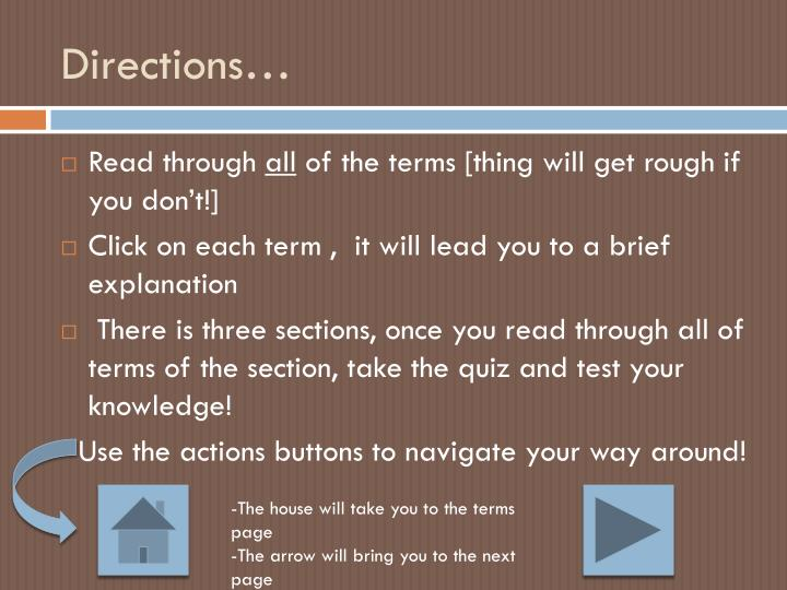 Directions…