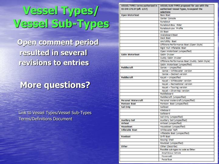 Vessel Types/