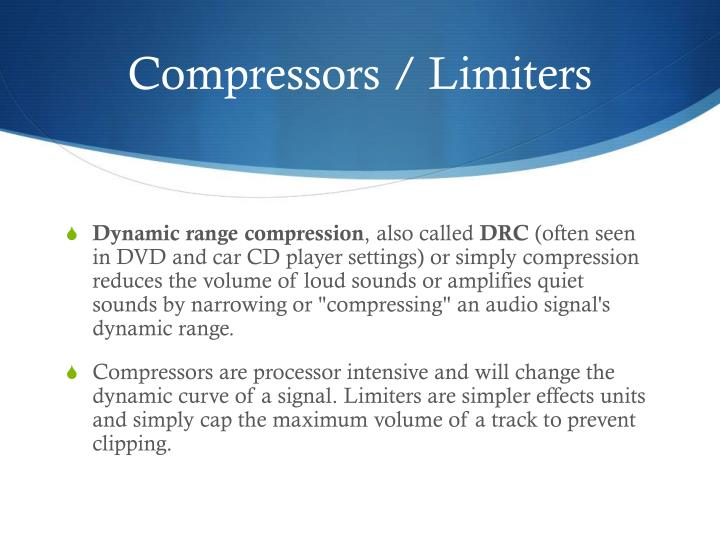 Compressors / Limiters