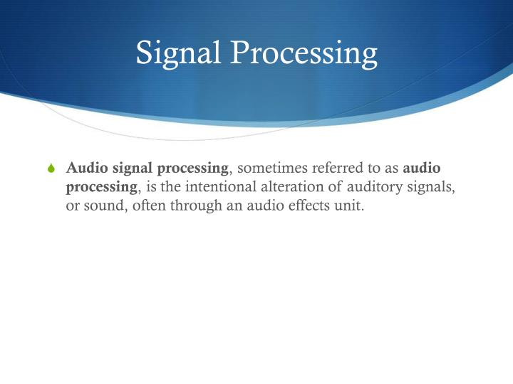 Signal processing1