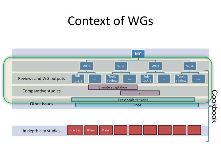 Context of WGs