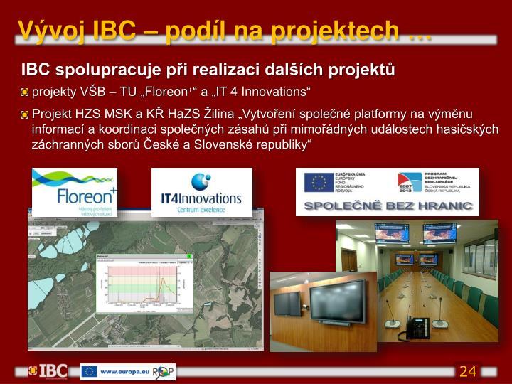 Vývoj IBC – podíl na projektech