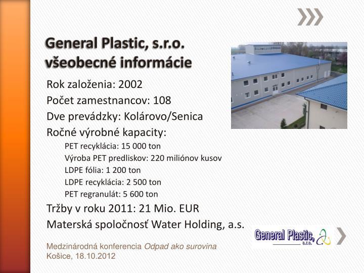 General Plastic, s.r.o.