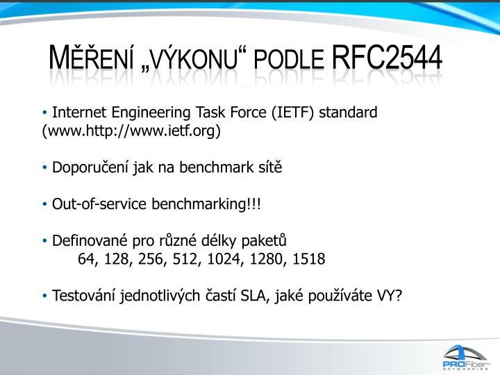 """Měření """"výkonu"""" podle RFC2544"""