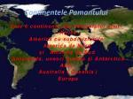continentele pamantului
