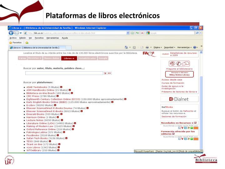 Plataformas de libros electrónicos