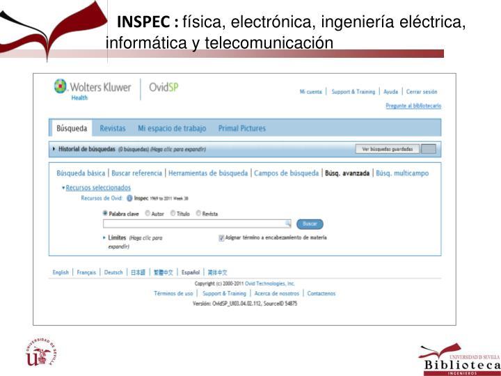 INSPEC :