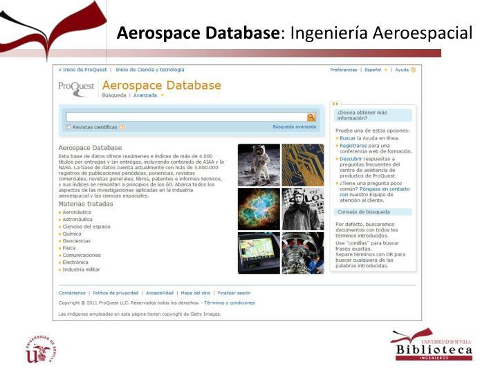 Aerospace Database