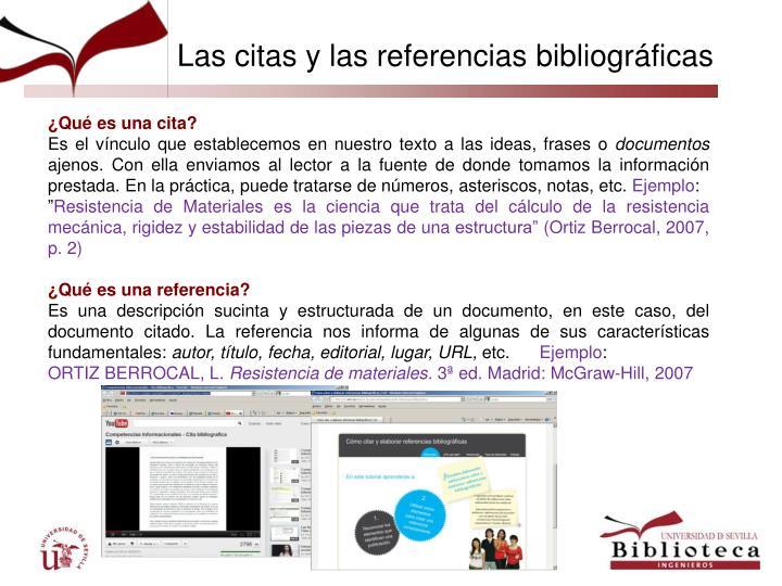 Las citas y las referencias bibliográficas