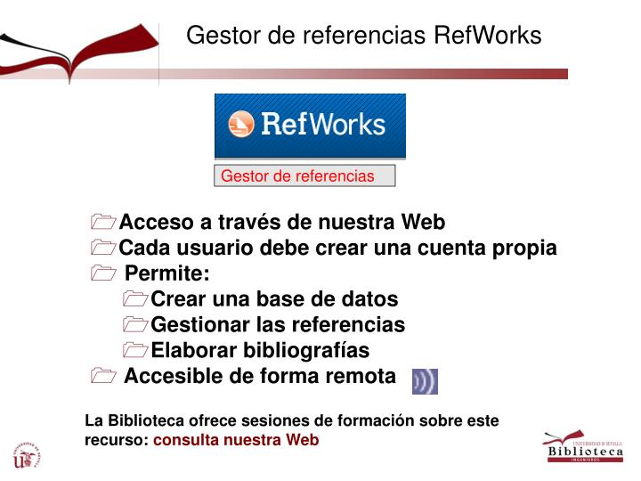 Gestor de referencias