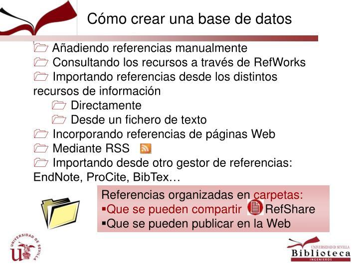 Cómo crear una base de datos