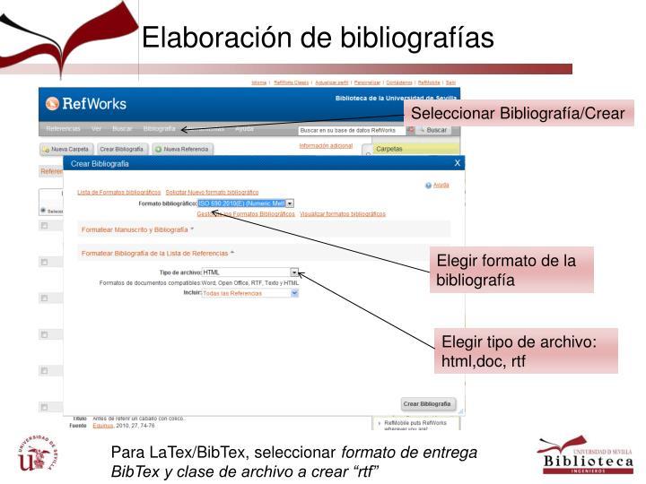 Elaboración de bibliografías