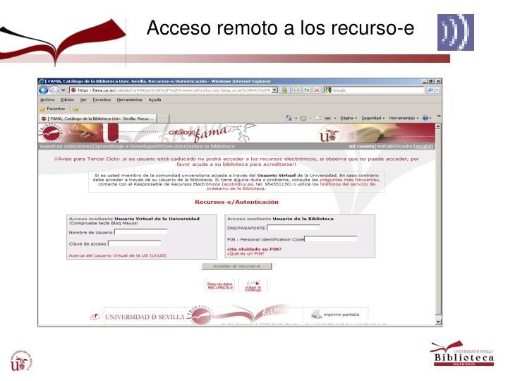 Acceso remoto a los recurso-e