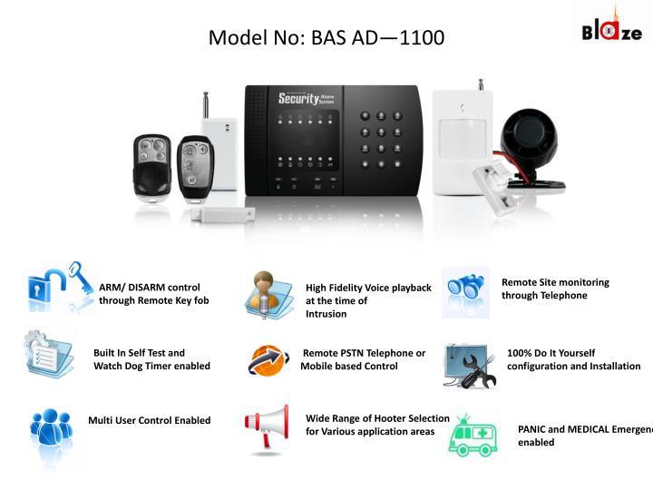 Model No: BAS AD—1100