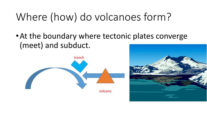 Where (how) do volcanoes form?