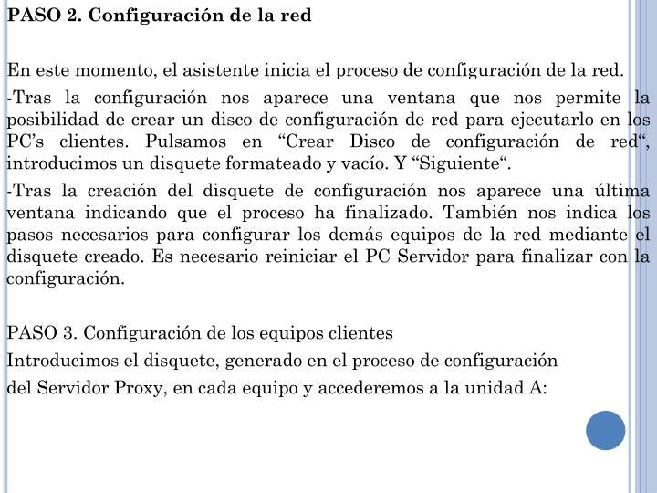 PASO 2. Configuración de la