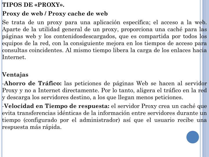 TIPOS DE «PROXY».