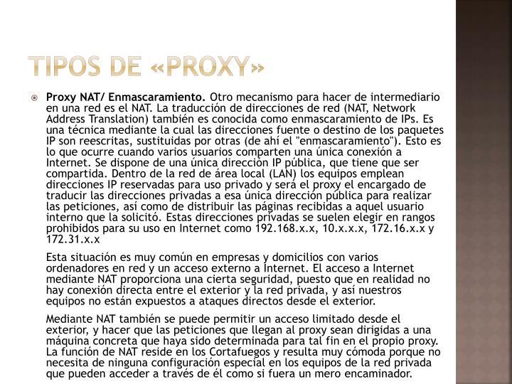 Tipos de «proxy»