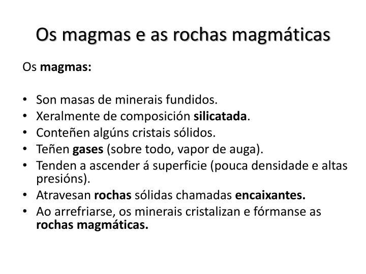 Os magmas e as rochas