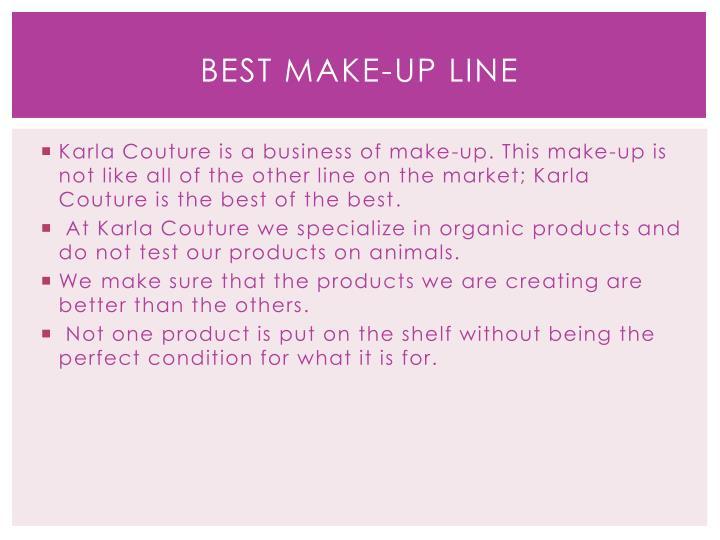 Best make-up line