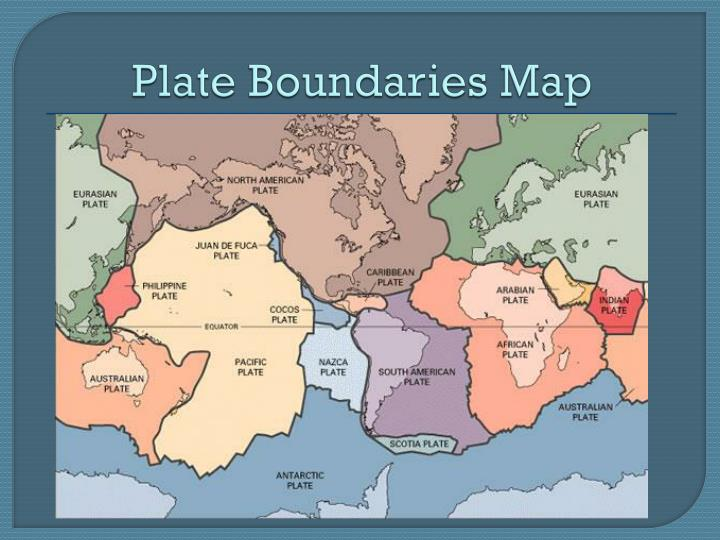 Plate Boundaries Map