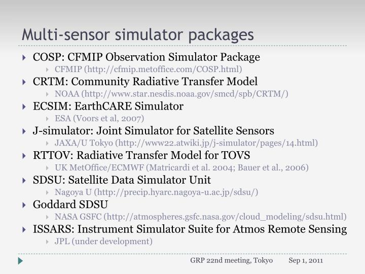 Multi sensor simulator p ackages