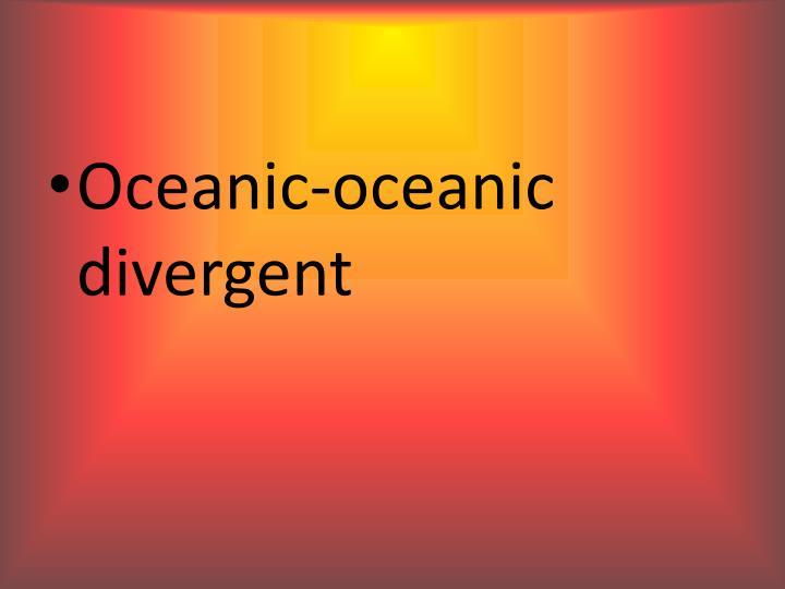 Oceanic-oceanic divergent