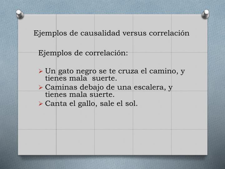 Ejemplos de causalidad versus correlación