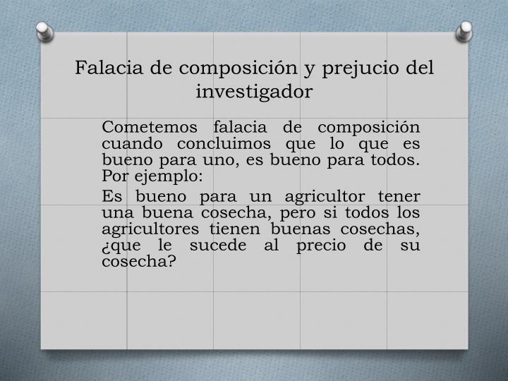 Falacia de composición y
