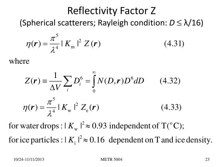 Reflectivity Factor Z