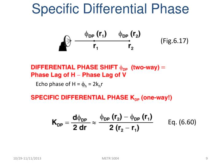 Specific Differential Phase
