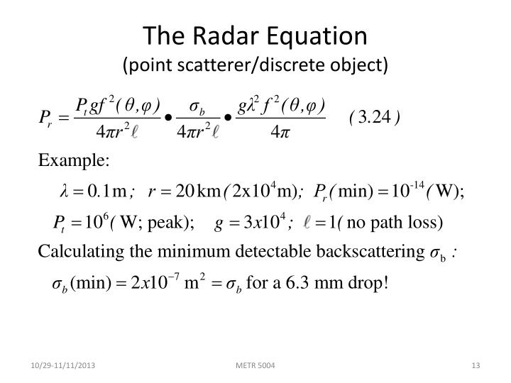 The Radar Equation