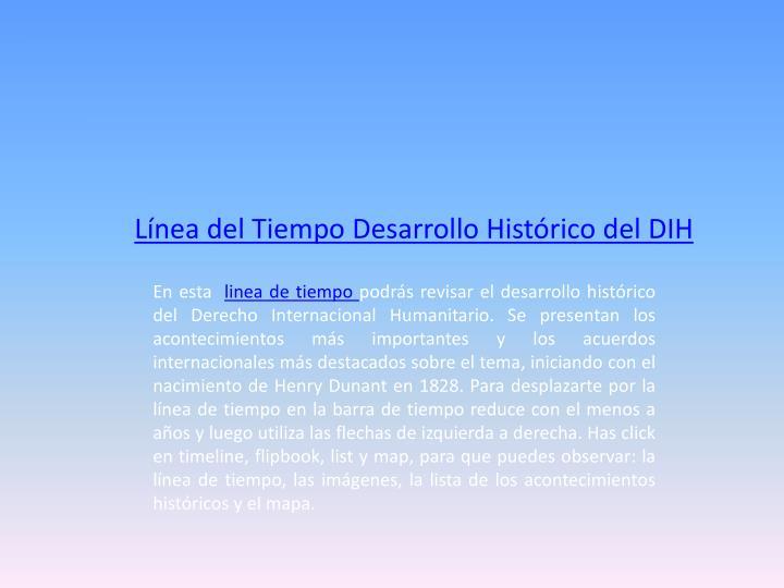 Línea del Tiempo Desarrollo Histórico del
