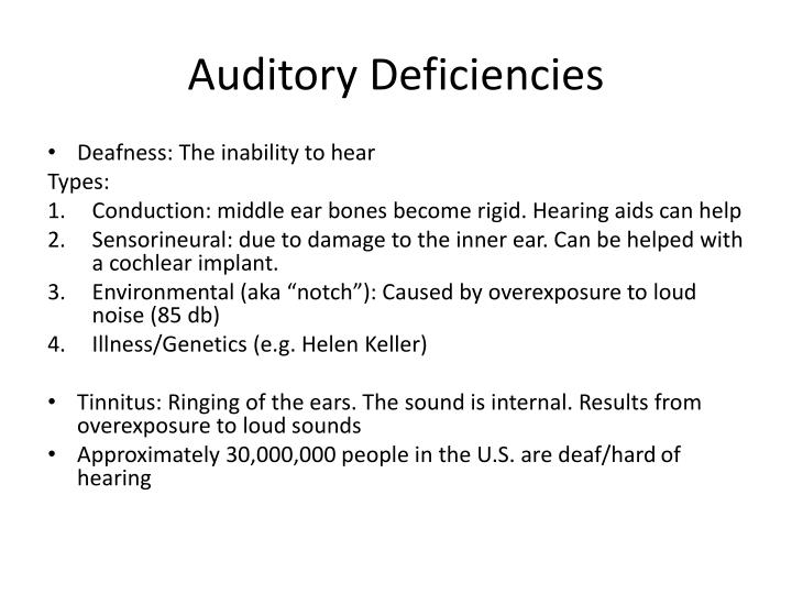 Auditory Deficiencies