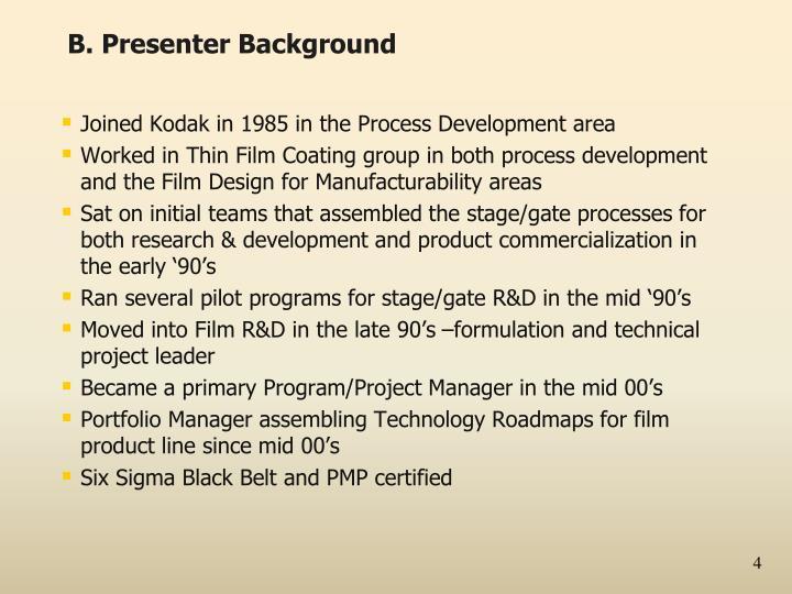 B. Presenter Background