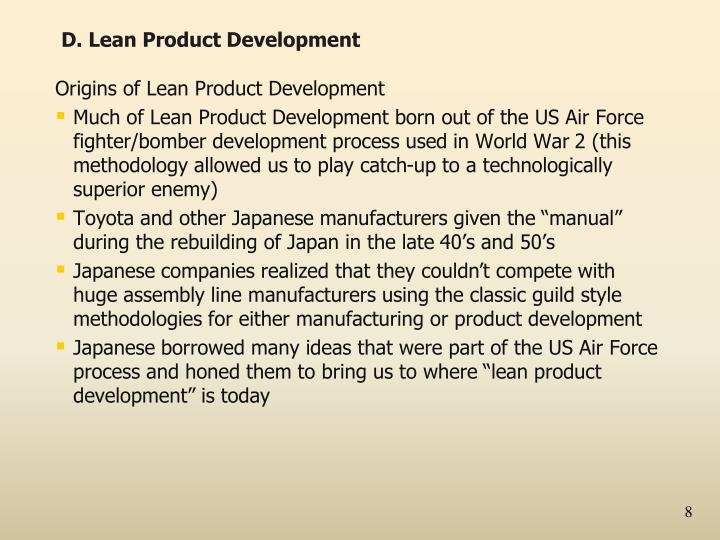 D. Lean Product Development