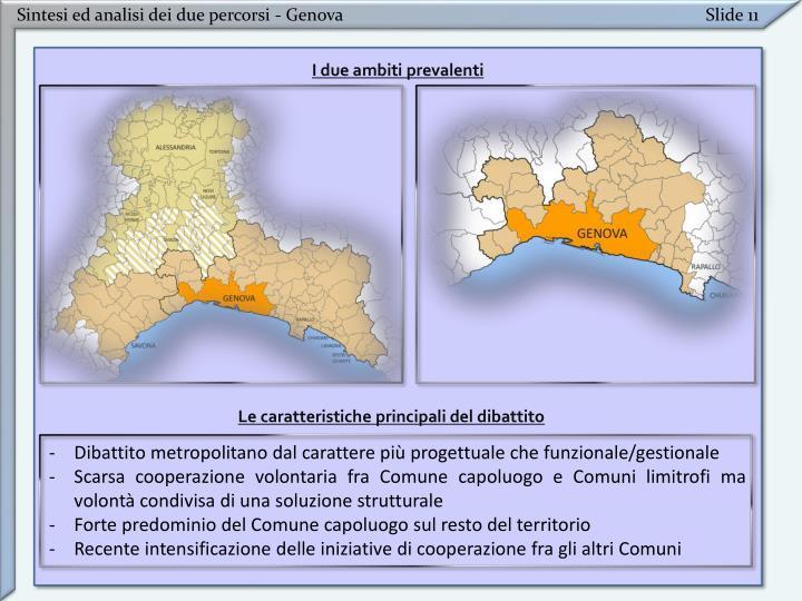 Sintesi ed analisi dei due percorsi - Genova