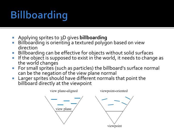 Billboarding