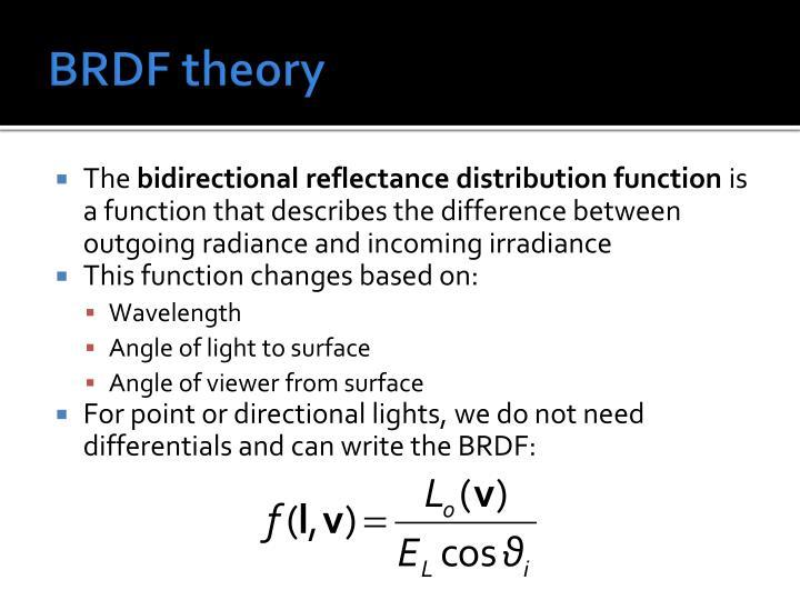 BRDF theory