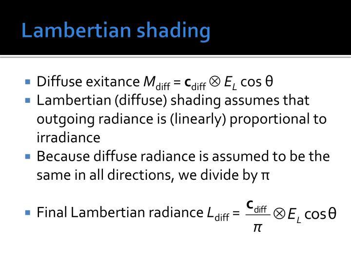 Lambertian