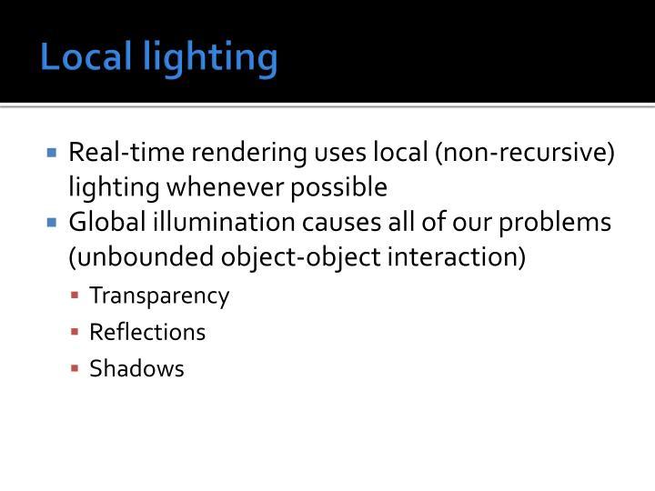 Local lighting