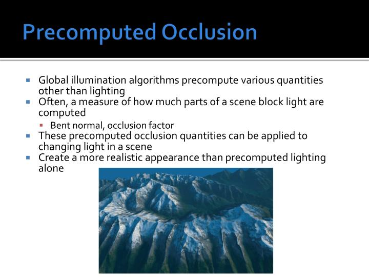 Precomputed Occlusion