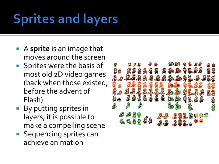 Sprites and layers