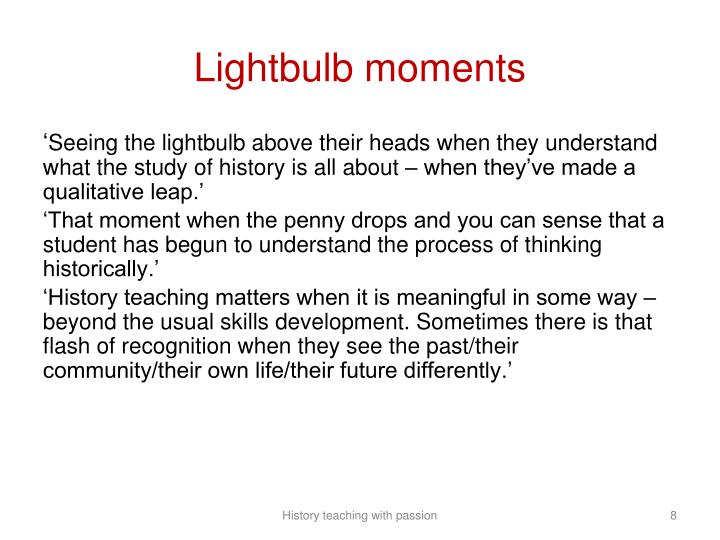 Lightbulb moments