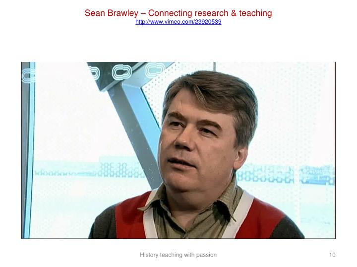 Sean Brawley – Connecting research & teaching