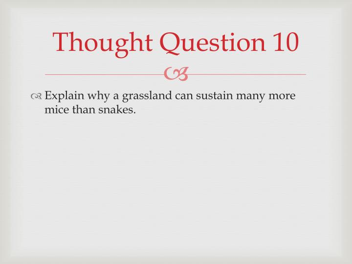 Thought Question 10