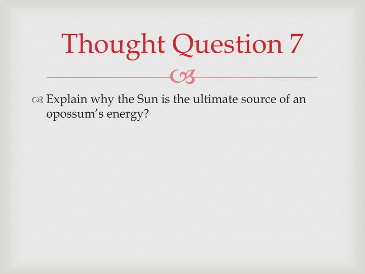 Thought Question 7