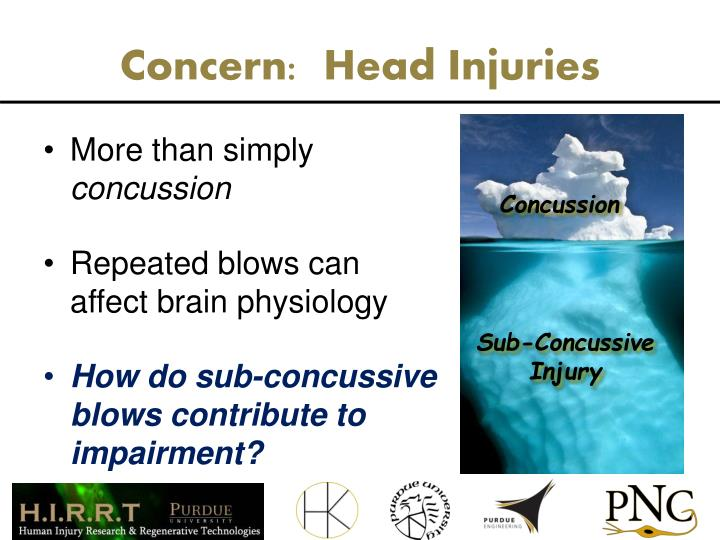 Concern:  Head Injuries