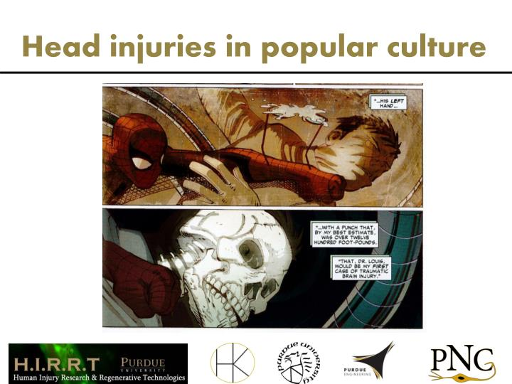 Head injuries in popular culture