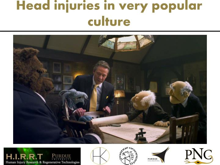 Head injuries in very popular culture